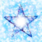 Blurred Star. On colorful background Stock Photos