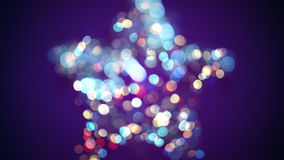 Blurred star shape and bokeh lights stock illustration