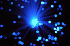 Blurred starfield. Abstract blurred blue optical cables Stock Image