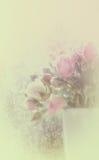 Blurred stilisierte Blumenhintergrund Lizenzfreies Stockbild