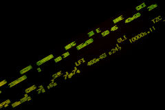 Blurred stock ticker readout Stock Image
