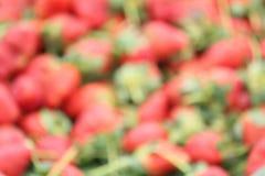 Blurred of strawberries Stock Photo