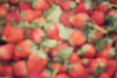 Blurred of strawberries Stock Images