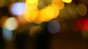 Blurred street lights Royalty Free Stock Photography