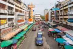Blurred street market in Chiangmai,Thailand Stock Photos