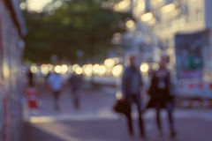 Blurred Street Photo Royalty Free Stock Images