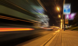 Blurred street traffic tonight Stock Photos