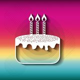 Blurred striped background. Happy Birthday design. Vector graphi Royalty Free Stock Photos