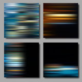 Blurred Striped Backgrounds Set Royalty Free Stock Photography