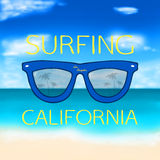 Blurred summer background with glasses Royalty Free Stock Photo
