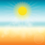 Blurred summer background. Sun shines brightly. Stock Photography