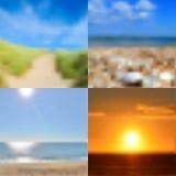 Blurred summer backgrounds set Stock Image