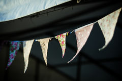 Blurred summer bunting royalty free stock photography