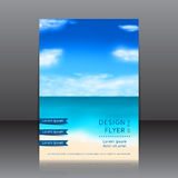 Blurred summer flyer with seashore Royalty Free Stock Photography
