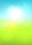 Blurred summer landscape. Blurred sunny summer bokeh background. EPS10 Stock Photography