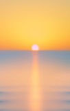 Blurred summer sea at dawn Stock Photography