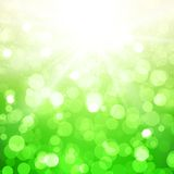 Blurred Summer Vector Background With Sun Stock Photography