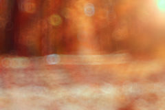 Blurred sunny autumn park Stock Images