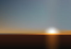 Blurred Sunset Royalty Free Stock Photography