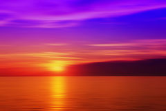 Blurred sunset in purple color Royalty Free Stock Images