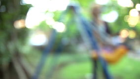 Blurred Swinging stock footage