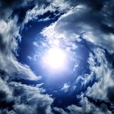 Blurred Whirlwind in the Clouds Royalty Free Stock Image