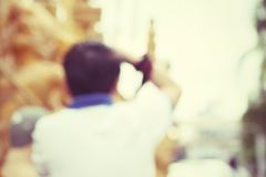 Blurred taking a photo Stock Photos