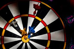 Blurred target darts. Stock Photography