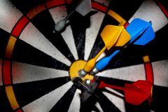 Blurred target darts. Royalty Free Stock Images
