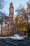Blurred taxi, Launceston, Tasmania Royalty Free Stock Photo
