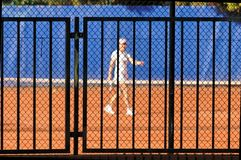 Blurred tennis court Royalty Free Stock Photography