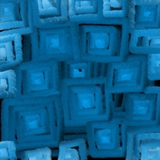 Blurred texture of blue squares light, an abstraction for a background. 3D illusion of soft light vector illustration