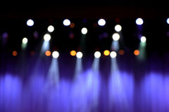 Blurred theater stage with purple curtains Stock Photos