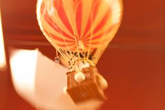 Blurred Toy Hot Air Ballon Stock Photo