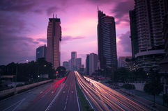 Blurred Traffic in the City Stock Photography