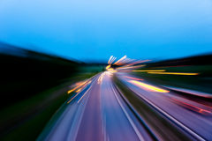 Blurred traffic at night Royalty Free Stock Photo