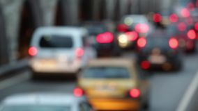 Blurred traffic scene at dusk.Time Lapse stock footage