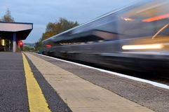 Blurred train Stock Photos