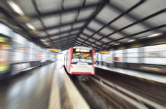 German local train in blurred motion Royalty Free Stock Image