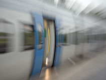 Blurred train door Royalty Free Stock Photography