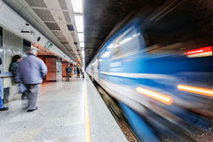Blurred train Royalty Free Stock Photography