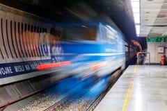 Blurred train Stock Image