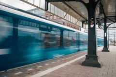 Blurred train motion with high speed royalty free stock photos