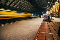 Blurred train motion with high speed stock photo