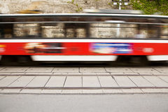 Blurred tram Stock Images