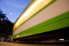 Blurred tramway in Hannover Stock Image