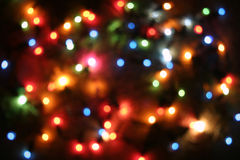 Blurred tree lights Royalty Free Stock Images