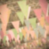Blurred triangle flag Stock Photo
