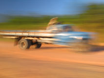 Blurred truck Stock Photos