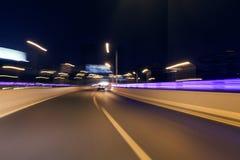 Blurred tunnel traffic Stock Photos